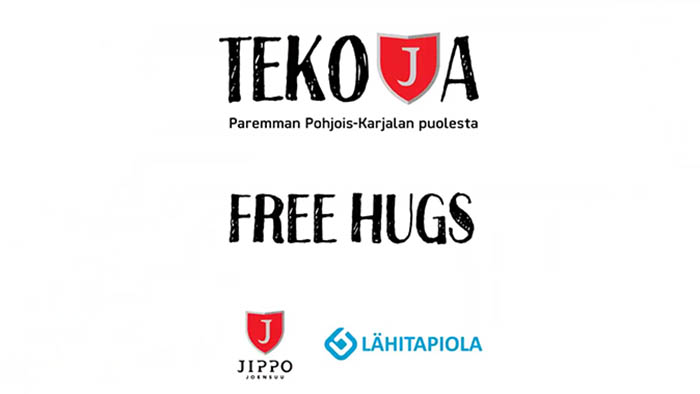Jipon ja LähiTapiola Itä:n Tekoja-kampanja: #Freehugs – anna hali!