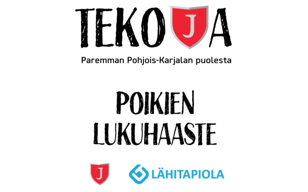 Tekoja-kampanjan huhtikuu: Poikien lukuhaaste