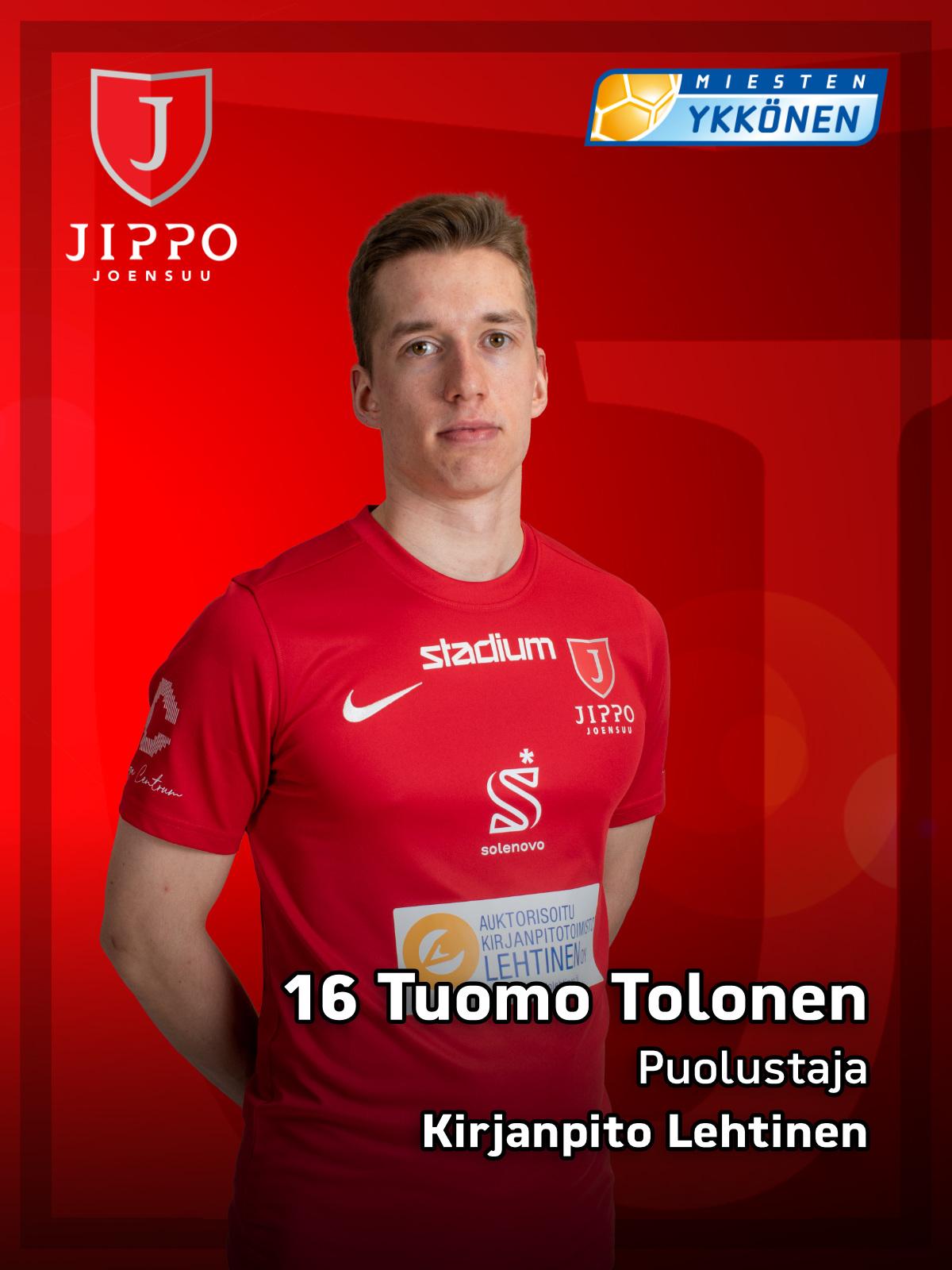 16 Tuomo Tolonen