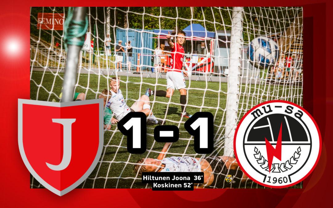 Tappioputki poikki, vaikka enemmänkin oli tarjolla: JIPPO-MuSa 1-1 (1-0)