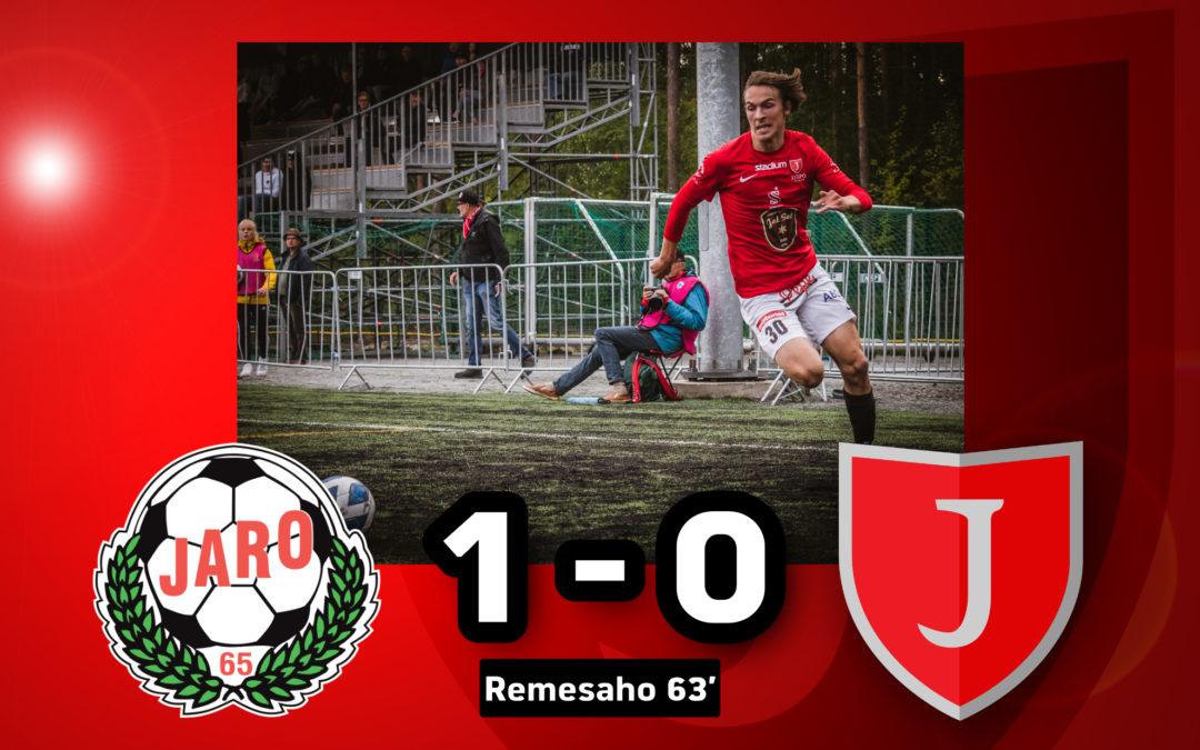 Eat, sleep, 1-0, repeat: FF Jaro-JIPPO 1-0 (0-0)