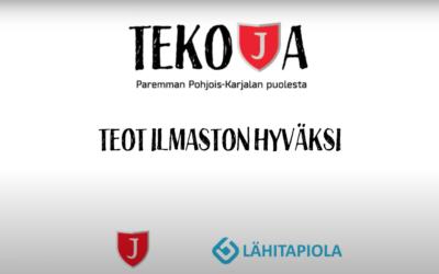 TEKOJA-KAMPANJA BY JIPPO & LÄHITAPIOLA ITÄ: TEOT ILMASTON HYVÄKSI!