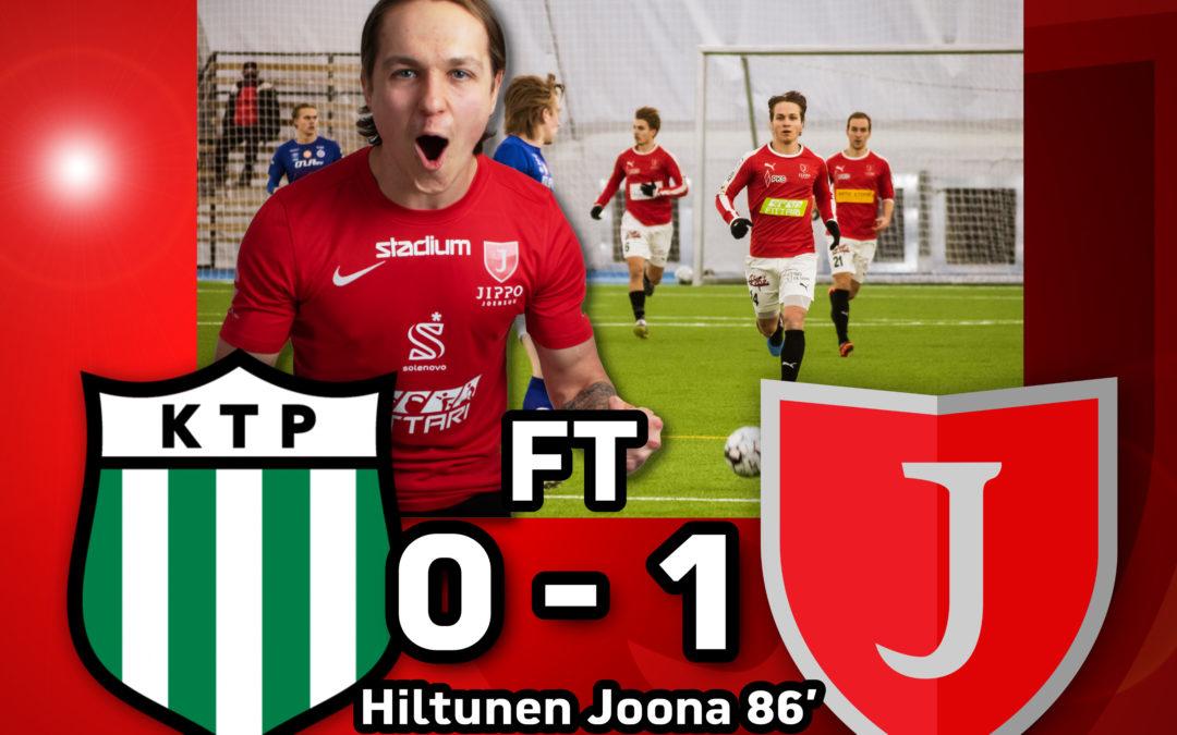 Harjoituskausi päätökseen hienolla voitolla! – KTP-JIPPO 0-1 (0-0)
