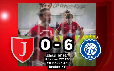 Karu tappio Klubi04:avastaan: JIPPO-Klubi04 0-6 (0-4)